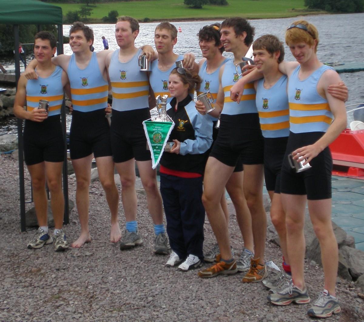 UCD Mens Novice 8+, National Champions 2008