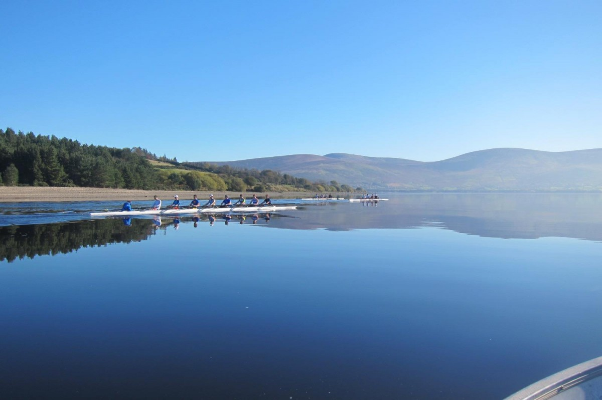 UCD Boat Club training in Blessington