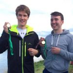Louis O'Halloran and Cormac Maguire, Mens Novice 2x winners at Portadown Regatta 2016