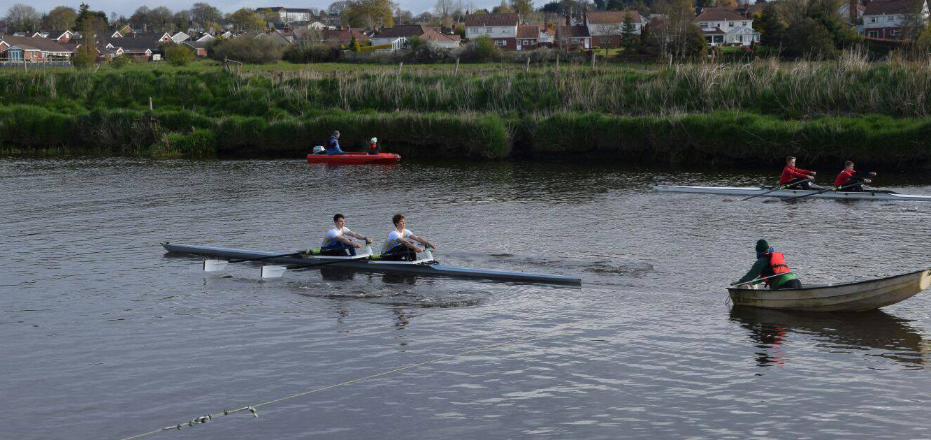 Mens Novice 2x semi-final at Portadown Regatta 2016