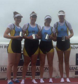 2016 Womens Senior 4- Champions (L-R Kara O'Connor, Siofra Bennett, Aileen Crowley, Eimear Lambe)