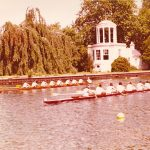 UCD pass Temple Island racing Clare College Cambridge