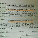 1974 Britannia Challenge Cup Final Lineups