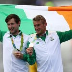 Paul and Gary O'Donovan with their Olympic Silver medals