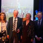 Suzanne Bailey, UCD Sports Development Manager, Martin, Coleen and the event's host, Darragh Moloney