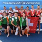 Shane O'Connell, Stephen O'Connor (UCC), Andrew Goff and Niall Beggan (Commercial) - U23 LM4x Bronze Medalists 2017