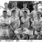 UCD Maiden VIII 1963  - taken on the front lawn of the old UCD Boat House.