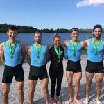 UCD's winning Club 2 4+ at Dublin Met 2018