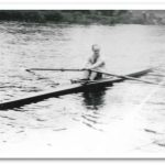 Ciaran Gannon in a Single Scull