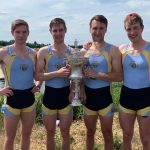 Championship 4- winners at London Met Regatta 2019 L-R: Shane Mulvaney, Shane O'Connell, Andrew Goff,David O'Malley