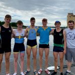 UCD athletes at Home 2019, L-R: Andrew Kelly, Ciaran Scanlon, Joe Ronaldson, Sam Bolger, Ewan Jarvis, Niall Farrell (coach)