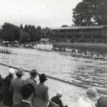Molesley lead UCD in the Thames Challenge Cup at Henley Royal Regatta in 1948