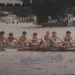 Marlow 1986 - Winners of 500m Sprint: Edward Burgess (Bow), Alan Robertson, Michael Sweetman, Vincent Parsons, Dermot Horan, Aidan Shilling, Patrick Madigan, Ken Fouhy (Stk), Martin Leahy (Cox)